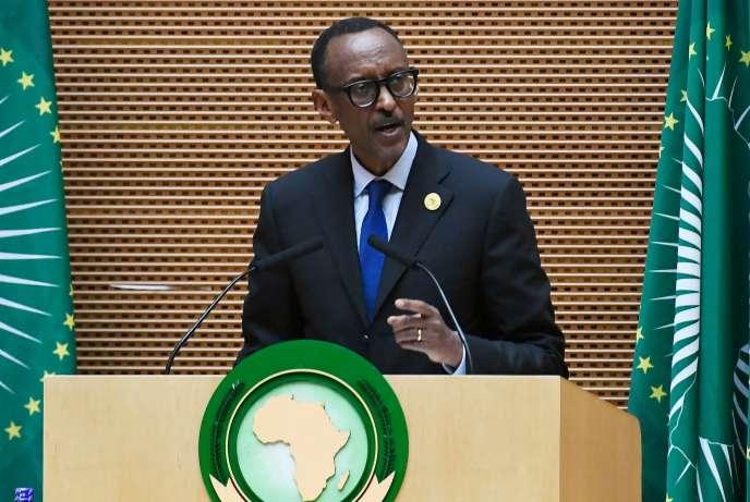 Paul Kagamé, le chef d'Etat rwandais, est devenu président de l'Union africaine, à Addis-Abeba, le 28 janvier.