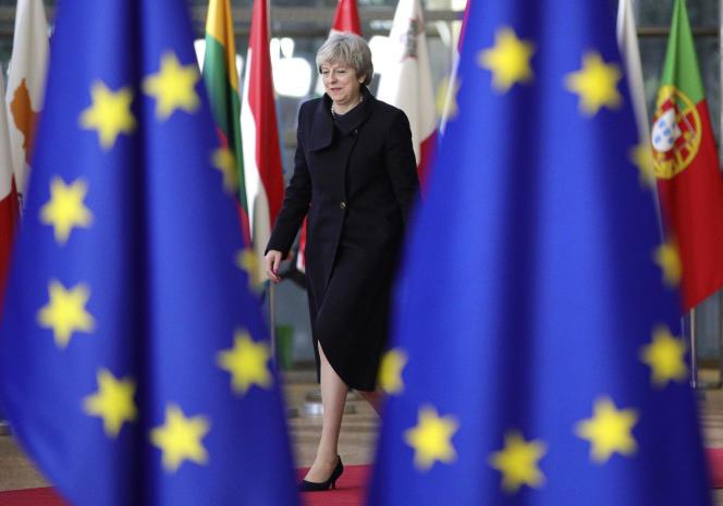 Theresa May, première ministre du Royaume-Uni, à Bruxelles, le 14 décembre 2017.