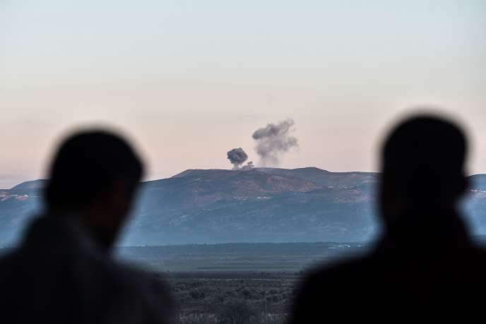 Bombardements près d'Antioche, en Turquie, à côté de la frontière syrienne, le 28 janvier.
