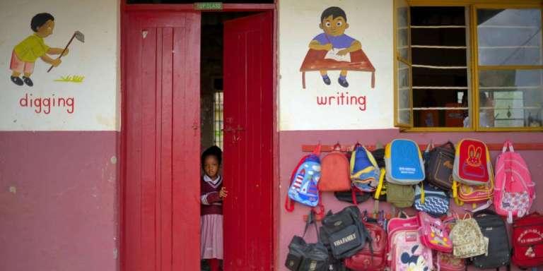Une salle de classe à Kampala, capitale de l'Ouganda.