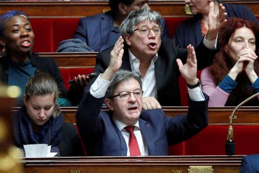 Jean-Luc Mélenchon, à l'Assemblée nationale, le 30janvier.