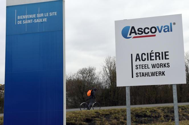 L'aciérie Ascoval de Saint-Saulve dans le Nord emploie 300 personnes. Ici, le 29 Janvier.