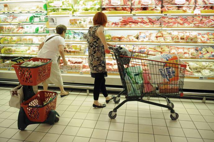 Dans un supermarché en france.