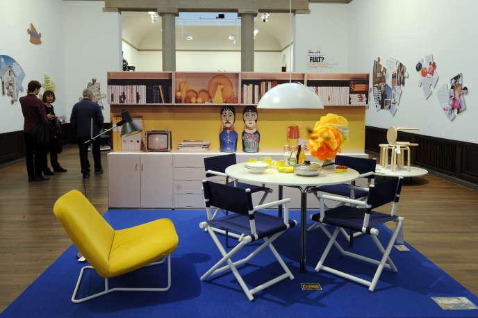 Un exposition consacrée aux meubles Ikea, dans le Musée d'art contemportain de Stockholm, en juin2009.