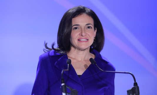 La directrice exécutive de Facebook, Sheryl Sandberg, à Paris, le 22 janvier.