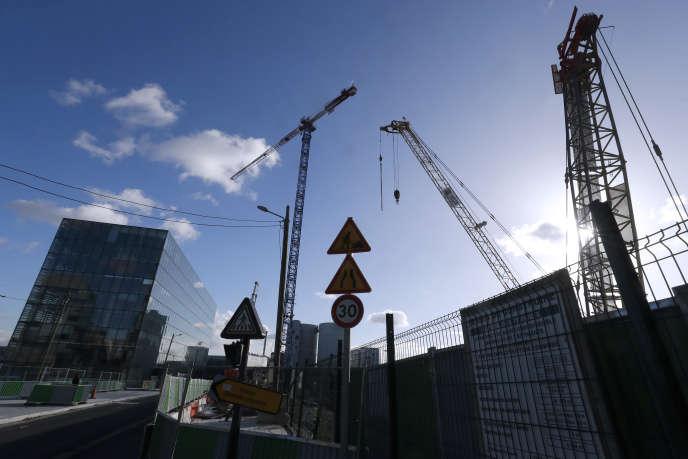 Un chantier de construction dans le 13e arrondissement de Paris, le 26 novembre 2017.