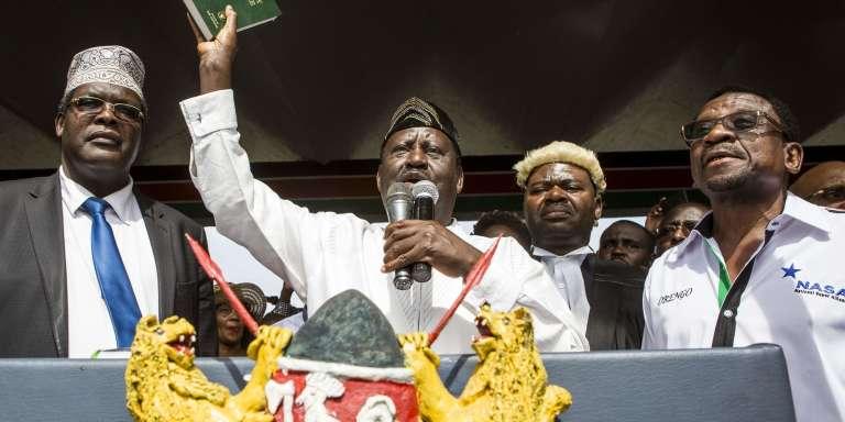 Raila Odinga, à Nairobi, mardi 30 janvier.