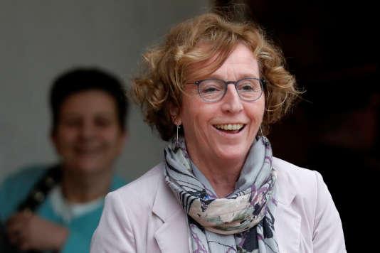 Muriel Pénicaud, la ministre du travail, en sortant de l'Elysée, le 31 janvier 2017.