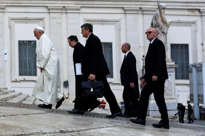 Le Pape François, mercredi 31 janvier, à Rome.