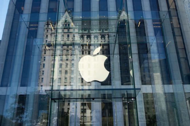 La devanture de l'Apple Store sur la 5e avenue à New York.