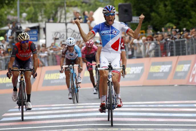 Thibaut Pinot avait remporté la 20e étape du Tour d'Italie à Asiago en2017.