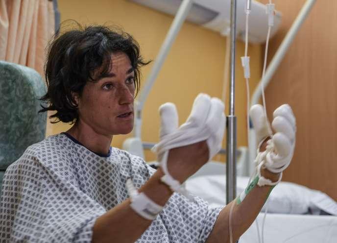Elisabeth Revol, le 31 janvier à l'hôpital deSallanches (Haute-Savoie).