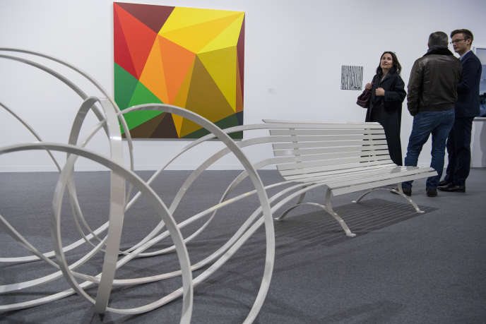 Une œuvre de l'artiste Pablo Reinoso exposée à la foire d'art contemporain Artgenève, le 31 janvier 2018.