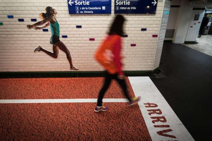 Le 14 septembre 2017, le métro parisien célèbre les Jeux olympiques qui se tiendront à Paris en 2024.