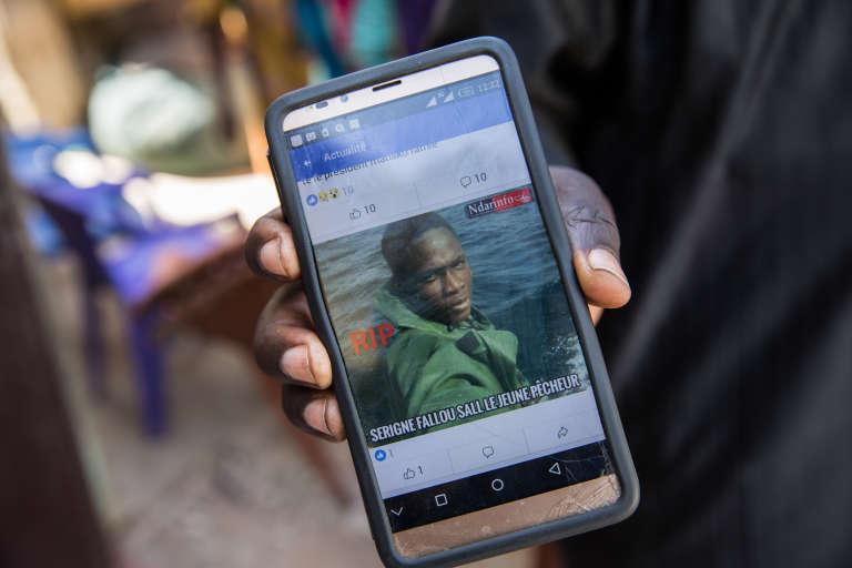 La photo de Fallou Sall, le jeune pêcheur tué en mer par les gardes-côtes mauritaniens samedi 27 janvier 2018.