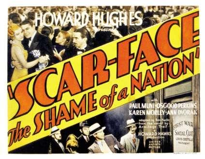 « Scarface», d'Howard Hawks, accusé de glorifier la violence, a dû adopter un sous-titre sans ambiguïté.