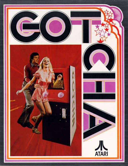 Publicité pour le jeu«Gotcha», en 1973.