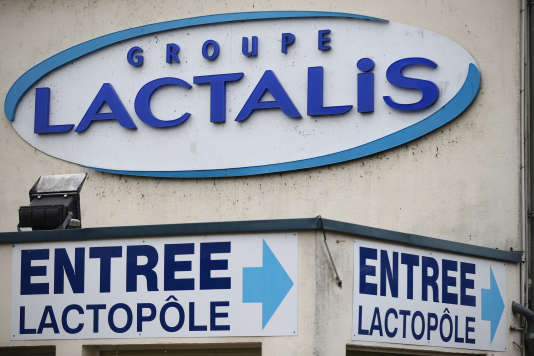 Le site Lactalis de Laval, le 12 janvier.