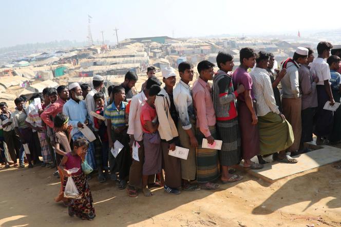 Au camp de Kutupalong (Bangladesh), le 21 janvier.