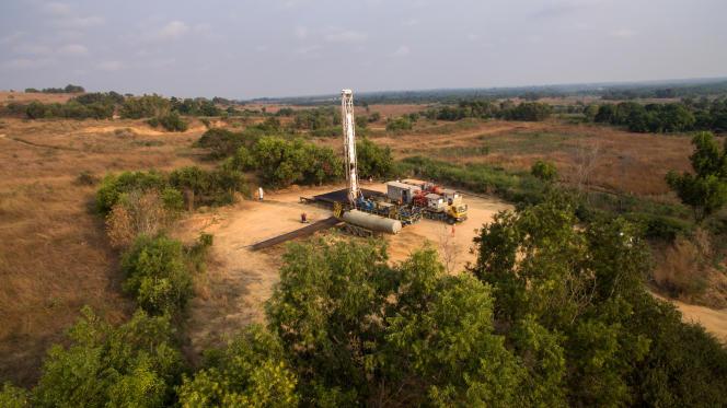 Un puits de pétrole de Perenco, près de Muanda.