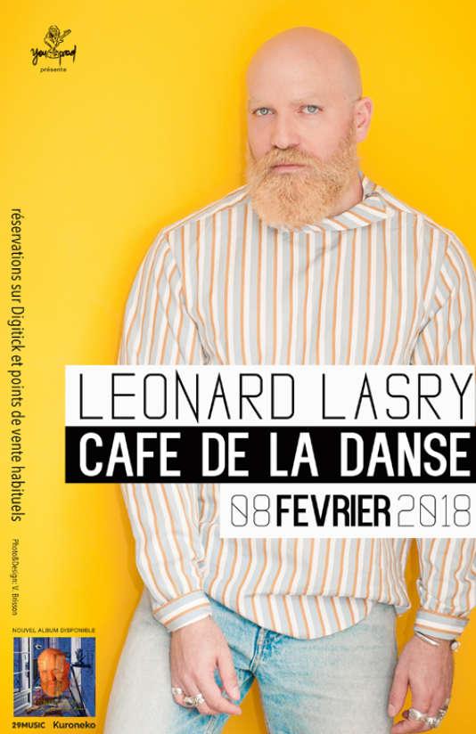 Affiche du concert de Léonard Lasry au Café de la danse.