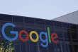 Photo du logo de Google au siège de l'entreprise, àMountain View, en Californie, enjuillet2016.