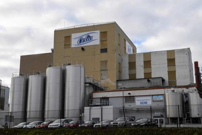 L'usine productrice de la poudre de lait infantile, propriété du groupe Lactalis, le4décembre2017, à Craon (Mayenne).