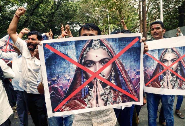 Une manifestation contre« Padmavati», le 12 janvier à Bombay.