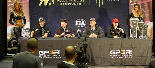 Conférence de presse de pilotes du championnat du monde de Rallye Cross, mise en ligne sur la page média du site FIA WRX.