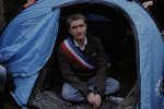Le maire de Sevran, Stéphane Gatignon, lors de sa grève de la faim en 2012.