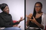 Madina Guissé à gauche, Laura Nsafou à droite.