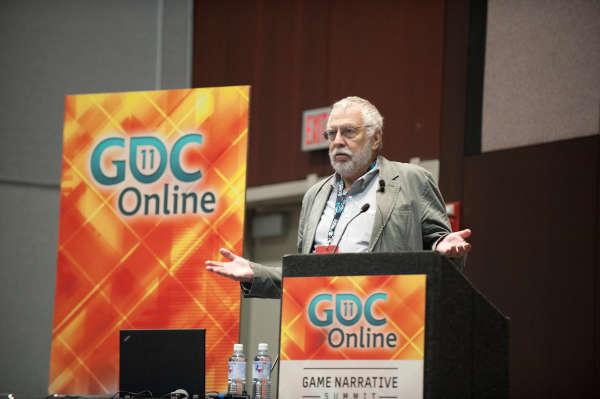 """Nolan Bushnell, lors de la """"Games Developper Conference"""" de 2011."""