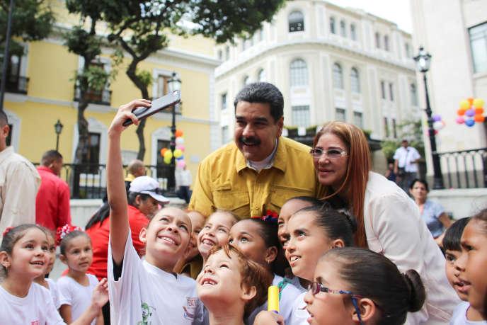 Le chef de l'Etat vénézuélien Nicolas Maduro le 1er février 2018, à Caracas.