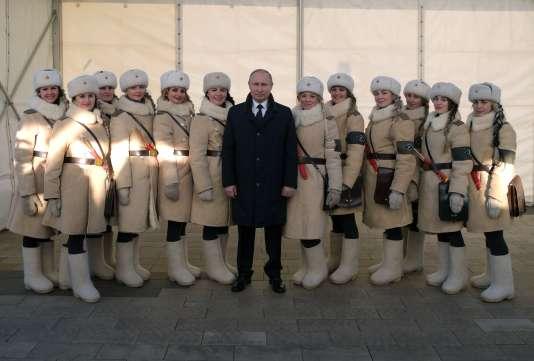 Vladimir Poutine, le 2 février, lors des célébrations marquant l'anniversaire de la bataille de Stalingrad.