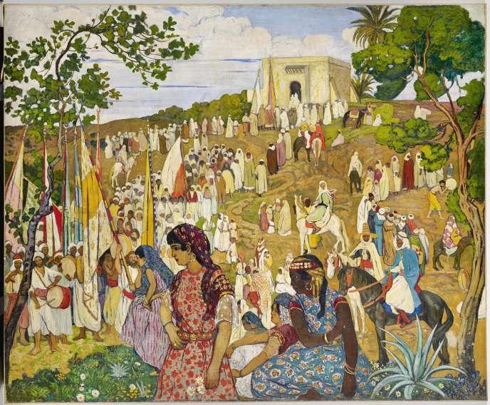 «La Fête arabe dans la campagne de Tlemcen» (vers 1910-1920), d'André Suréda.