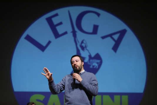 Le chef de file de la Ligue du Nord, Matteo Salvini, le 2 février.