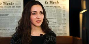 Roxane Varza, directrice de Station F, à l'occasion de la conférence organisée par Le Monde sur la ville du XXIesiècle, telle qu'elle est façonnée par ses jeunes habitants.