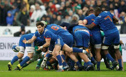 Les Français lors du match face à l'Irlande, le 3 février.