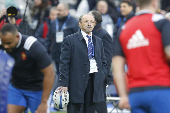 Jacques Brunel, samedi 3 février au Stade de France.
