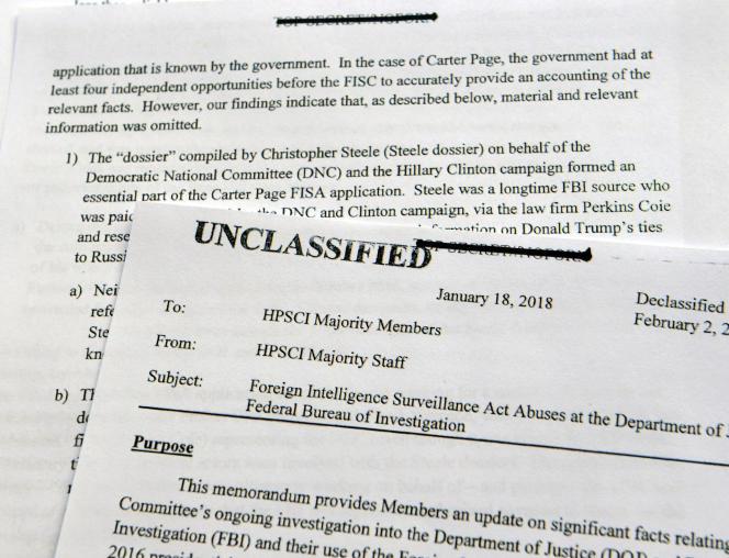 Le rapport confidentiel de Devin Nunes a été publié, le 2 février.