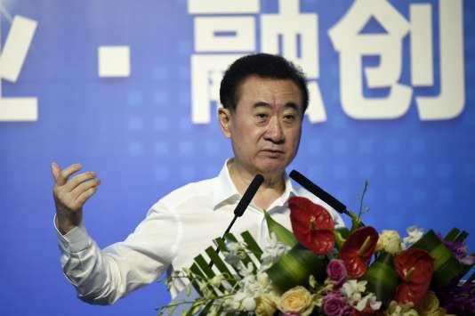 Le président du conglomérat chinois Wanda, Wang Jianlin, à Pékin, le 19 juillet.