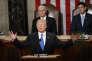 Donald Trump prononce son discours sur l'état de l'Union devant leCongrès, à Washington, le 30janvier.