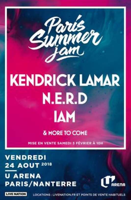 Affiche du festival Paris Summer Jam.