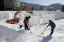 Préparatifs àPyeongchang, en Corée du Sud, le 4 février, avant le début des Jeux olympiques d'hiver, qui commencent le 9 février.
