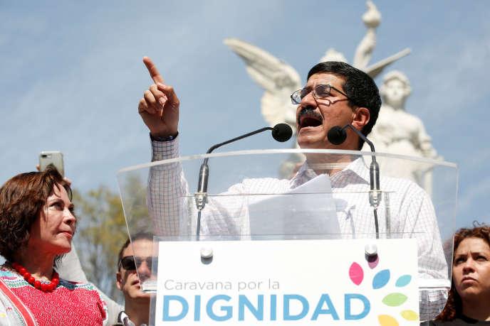Le gouverneur de l'Etat de Chihuaha, Javier Corral, à Mexico, le 4 février.