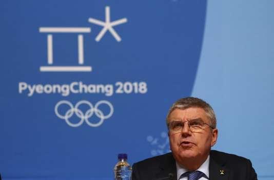 Le président du Comité international olympique (CIO), Thomas Bach, le 4 février à Pyeongchang, en Corée du Sud.