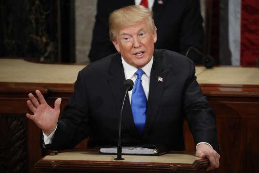 Donald Trump, lors de son discours sur l'étatde l'Union, le 31 janvier.