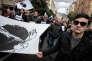Des milliers de personnes participent à une manifestation populaire organisée à la demande du président du conseil exécutif de l'Assemblée de Corse Gilles Simeoni et du président de l'Assemblée de Corse Jean-Guy Talamoni, le 3 février 2018 à Ajaccio, trois jours avant la venue du Président Emmanuel Macron dans l'île.