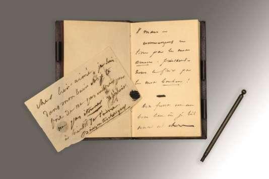 Carnet de Victor Hugo autographe destiné à Juliette Drouet du 8 mars (1834) au 4 juin (1834) vendu 217500 euros.