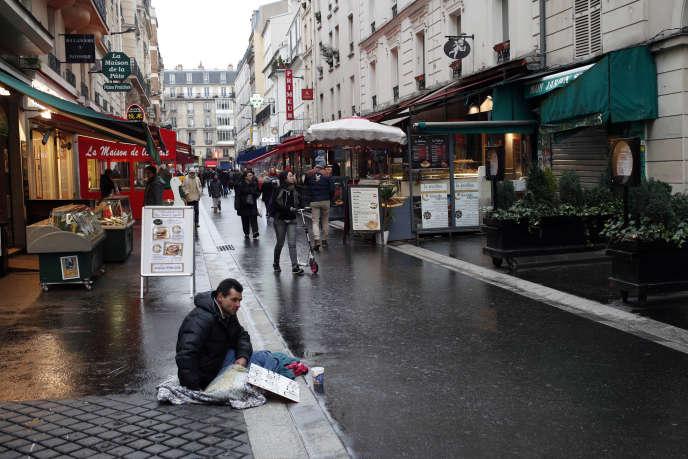 Une personne sans-abri, à Paris, le 5 février.